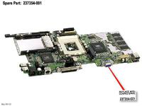 HP BD,SYS I/ O, GT700MH, W/ 32MB (237354-001)