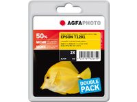 AGFAPHOTO Ink Black Dye 2-pack (APET128BDUOD)