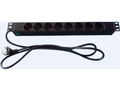 """MICROCONNECT 8-way Outlet strip,19"""" 1U"""