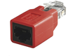 MICROCONNECT Crossover adapter RJ45 M-F