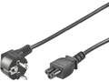 MICROCONNECT Power Cord Notebook 0,5m Black