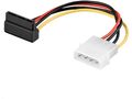 MICROCONNECT SATA Power 4pin-15pin 0,13m