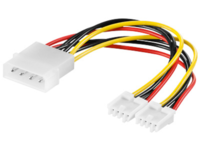 MICROCONNECT PC Y-Power supply cable, 0,13M (PI01133)