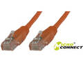 MICROCONNECT U/UTP CAT6 0.25M Orange PVC