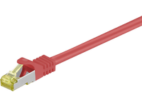 MICROCONNECT CAT 7 S/FTP  RJ45 RED  0.50m