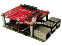 LYCOM Raspberry Pi USB to mSATA (PI-102)