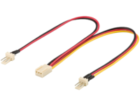 MICROCONNECT Cable Molex 3 pin female 0.22m (PI05063)