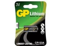 GP LITHIUM BATTERY CR123A (CR123A 1-P)