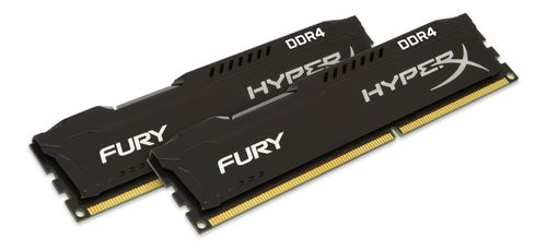 KINGSTON 16GB 3200MHz DDR4 CL18 DIMM Kit of 2 1Rx8 HyperX FURY Black (HX432C18FB2K2/16)