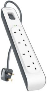BELKIN 4 OUTLET SURGE STRIP 2m UK (BSV400AF2M)