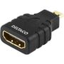 DELTACO HDMI High Speed with Ethernet adapter, Micro HDMI ha - HDMI ho