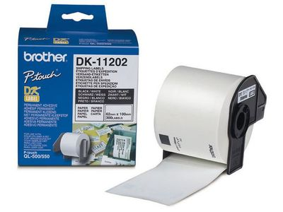 BROTHER Consignment labels 62x100 white paper (300) (DK-11202)