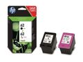 HP INK CARTRIDGE NO 62 B/C/M/Y COMBO 2-PACK SUPL