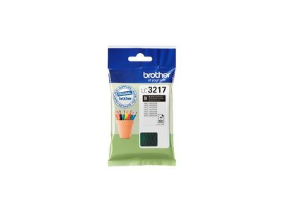 BROTHER LC-3217BK INK CARTRIDGE BLACK APP 550 PAGES ISO STANDARD 24711 SUPL (LC3217BK)