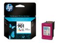 HP 901 3-COLOUR OFFICEJET INK CARTR.