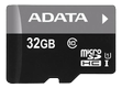 A-DATA 32GB MicroSDHC UHS-I Class10 +SD adapter