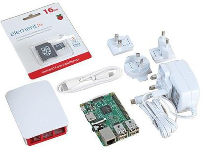 RASPBERRY PI Official Starter Kit - White (RPI3-MODB HDMIOSK-WHT)