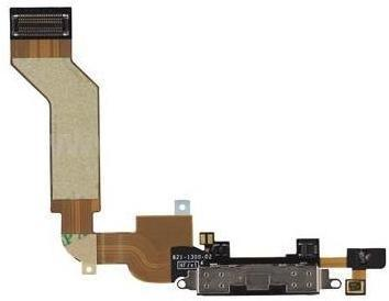 MicroSpareparts Dokkontakt - hvit - for Apple iPhone 4S (MSPP1897)