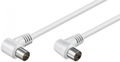 MICROCONNECT Coax Cable 1.5m White2x Angled MICRO