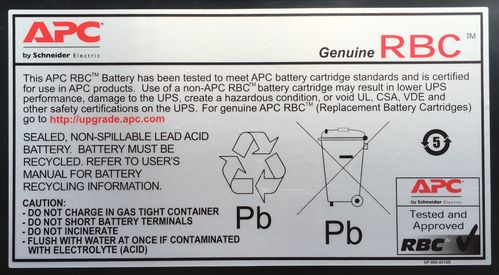 APC REPLACABLE BATTERY FOR SU3000RMI3U  SU5000RMI5U IN (RBC12)