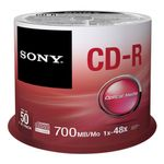 SONY CD-R 700MB/ 80MIN 48X 50-SPINDLE