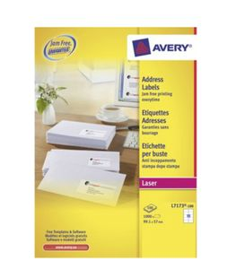 AVERY White Shipping Labels For Laser 99.1x57mm 10 Labels/ Sheets **100-pack** (L7173-100)