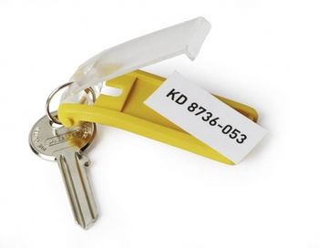 DURABLE Key clip Druable yellow, bag of 6 pcs (1957-04)