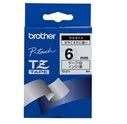 BROTHER P-TOUCH TAPE 6MM BLACK/ WHITE (TZ-211)
