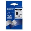 BROTHER TZE211 tape cassette 6mm 8m white/ black P-touch 200/ 300/ 500series