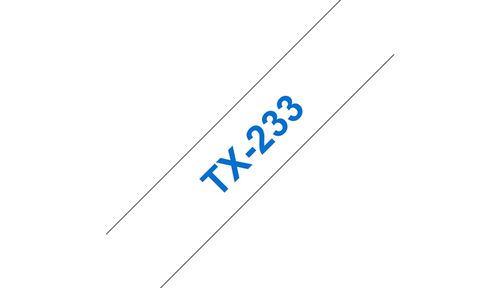 BROTHER 12mm Blue On White Tape (TX233)