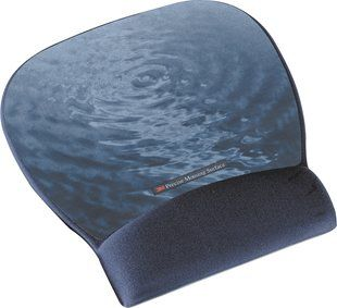 3M PRECISE MOUSEPAD W/ GEL WRIST BLUE WATER (MW311BE)