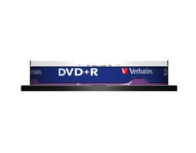 VERBATIM DVD+R Verbatim 4.7Gb 16x spindle (10) (43498)