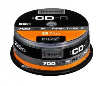 "INTENSO """"CD-R  Intenso 700MB  25pcs Ca (1801124)"