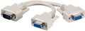 MICROCONNECT VGA Y cable HD15 M-2xF 0,30m