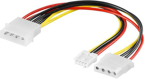 MICROCONNECT Power 4pin - 3pin + 4pin (PI01132)