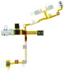 MicroSpareparts Lydjakkflekskabel - hvit - for Apple iPhone 3GS (MSPP1529)