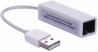 USB2.0 to Ethernet, White