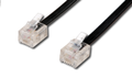 MICROCONNECT TEL 6P4C/RJ11Black 3m