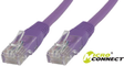 MICROCONNECT U/UTP CAT6 0.25M Purple PVC BULK-MC