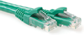 MICROCONNECT UTP CAT6A 0,5m, PVC, Green