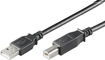 MICROCONNECT USB2.0 A-B M-M 0,1m BLACK MICRO