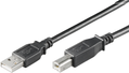 MICROCONNECT USB2.0 A-B M/M 0,1m BLACK