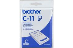 BROTHER THERMOPAPER A7 105MM X 74MM PAPER CASSETTE 50SHTS SUPL