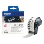 BROTHER DK CONTINUOUS LABELS WHITE F/ QL-500/ 550 FILM 15.24M 29MM SUPL