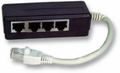 MICROCONNECT ADAPTER RJ45-4xRJ45 M/F 8P