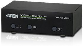 ATEN VanCryst VS0201 - Video/ audio switch - 2 x VGA / audio - stasjonær (VS0201-AT-G)