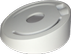 MicroView Inclined Ceiling Mount, White.
