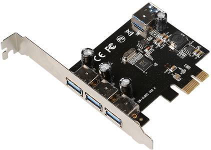 MICROCONNECT 4 port USB 3.0 PCIe card (MC-USB3.0-F2B2-V2)