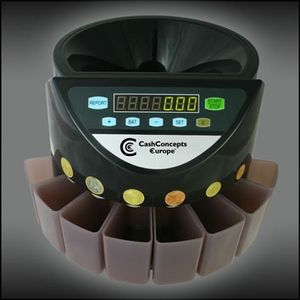 CASH CONCEPTS EURO COIN COUNTER CO. 220 (CCE-400-EURO)