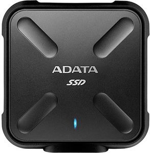 A-DATA ADATA SD700, 256 GB, USB Type-C, 3.0 (3.1 Gen 1), 440 MB/s, Sort (ASD700-256GU31-CBK)